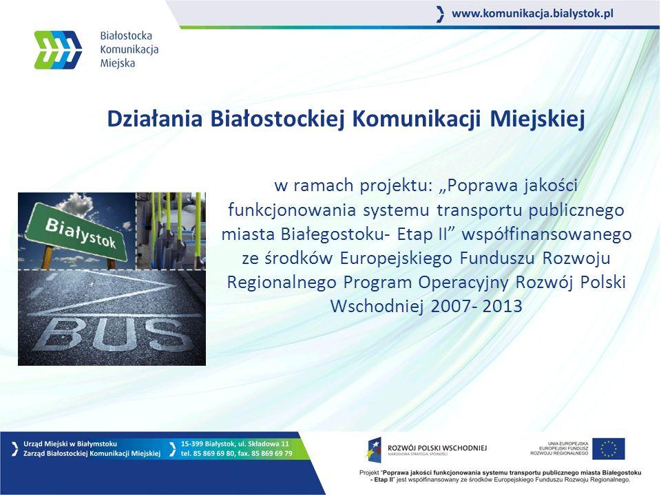 22 Inne działania promocyjno - informacyjne spoty radiowe emitowane w Radio Białystok, Radio Eska Białystok, Radio Jard elementy promocji bezpośredniej – koszulki, gadżety plakaty i nalepki informacyjne dotyczące użytkowania e- karty i elektronicznego rozkładu jazdy