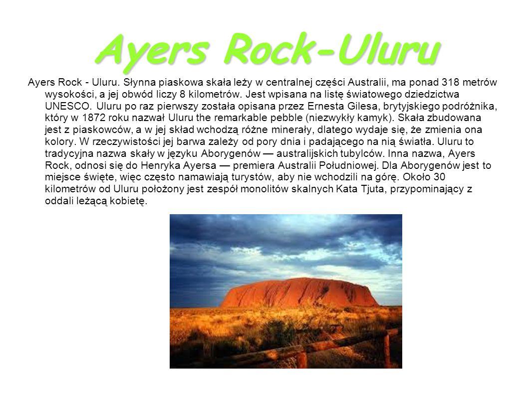 Ayers Rock-Uluru Ayers Rock - Uluru.
