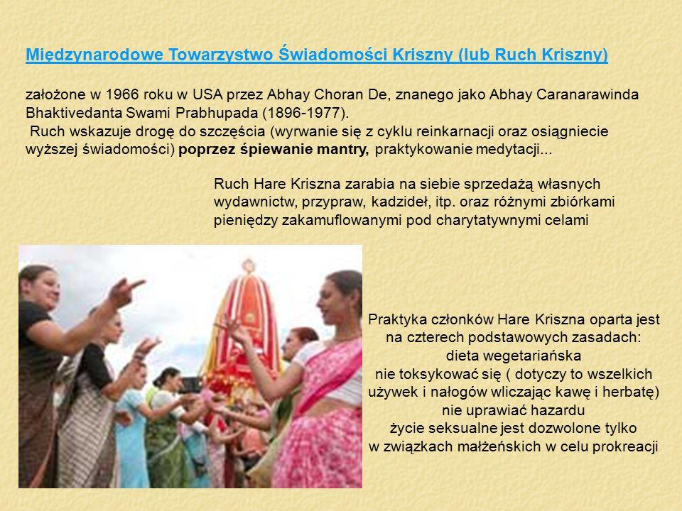 Międzynarodowe Towarzystwo Świadomości Kriszny (lub Ruch Kriszny) założone w 1966 roku w USA przez Abhay Choran De, znanego jako Abhay Caranarawinda B