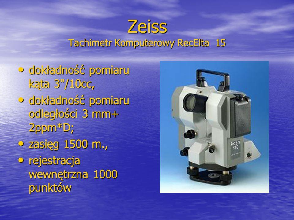 Zeiss Tachimetr Komputerowy RecElta 15 dokładność pomiaru kąta 3