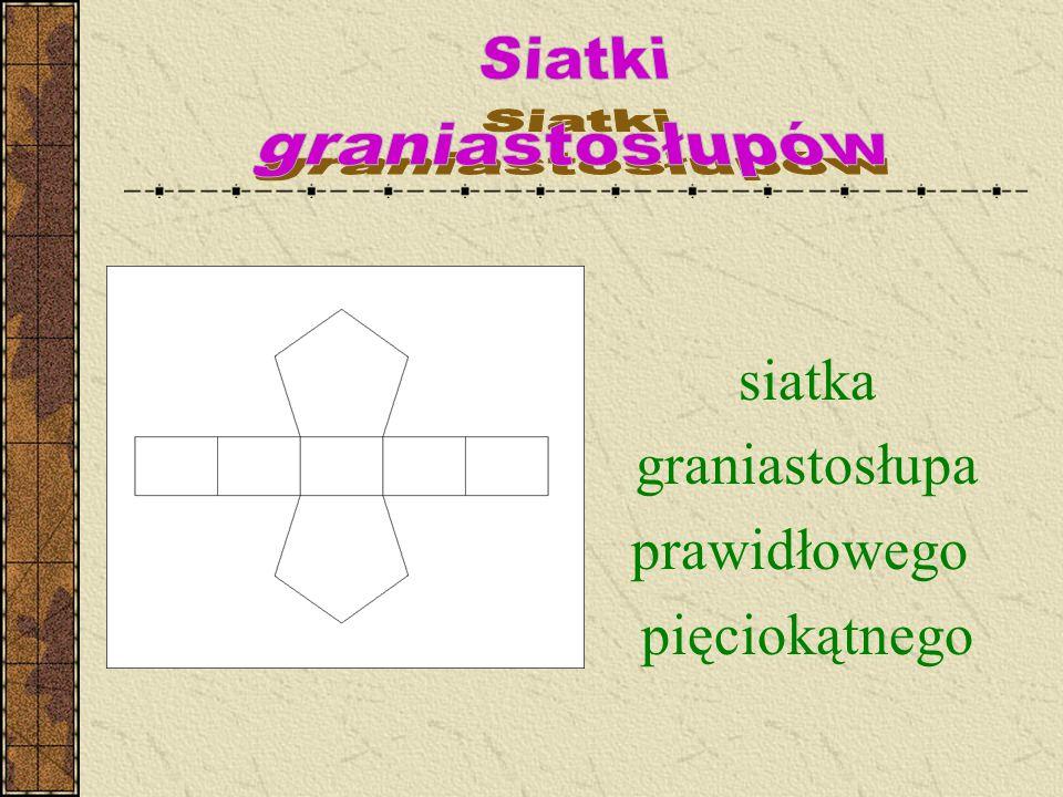 siatka graniastosłupa prawidłowego pięciokątnego