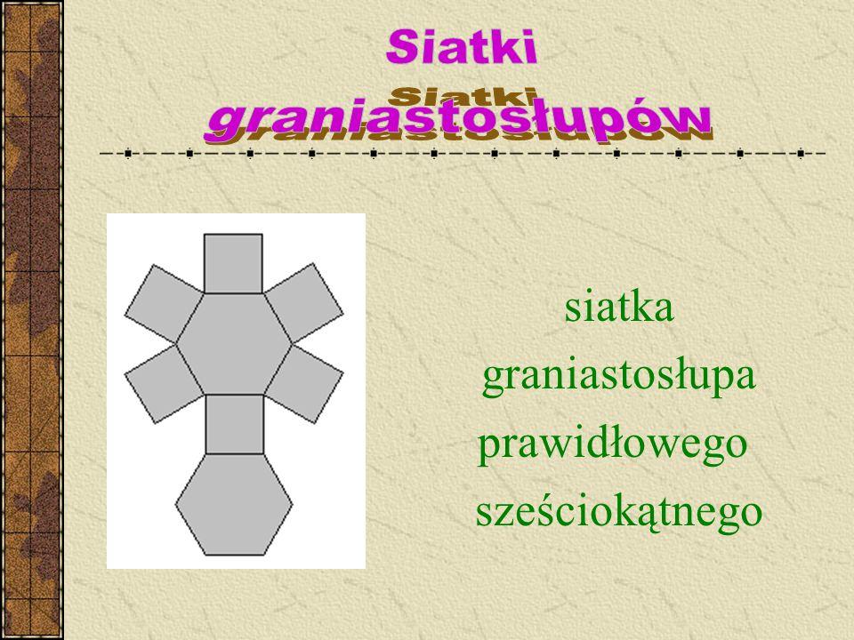 siatka graniastosłupa prawidłowego sześciokątnego