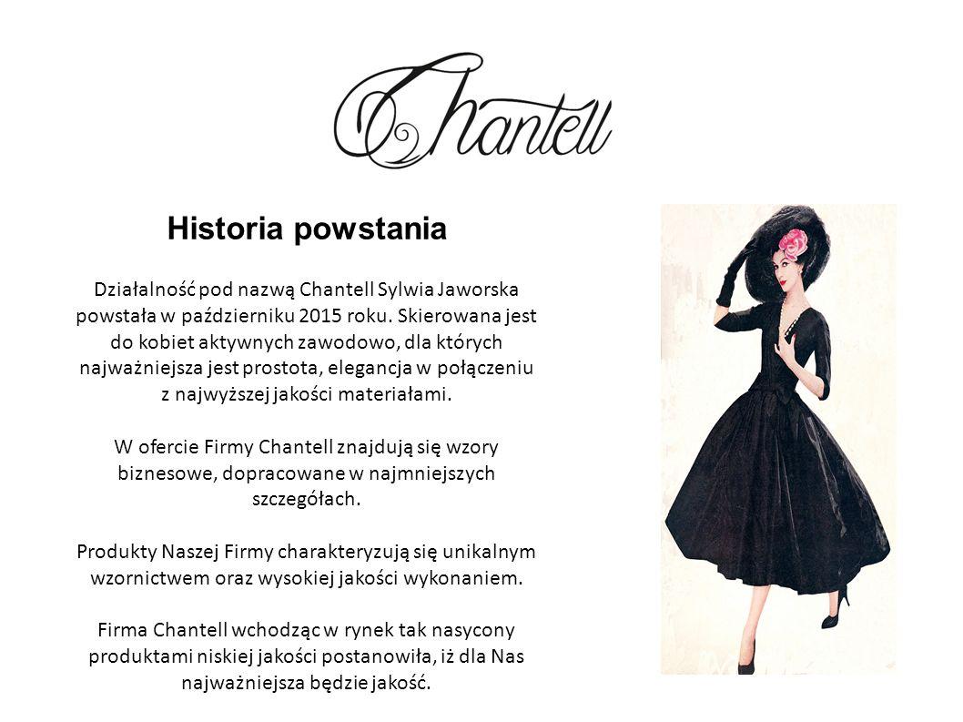Historia powstania Działalność pod nazwą Chantell Sylwia Jaworska powstała w październiku 2015 roku.