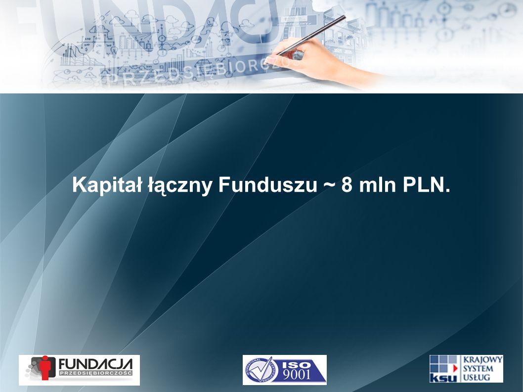 Kapitał łączny Funduszu ~ 8 mln PLN.