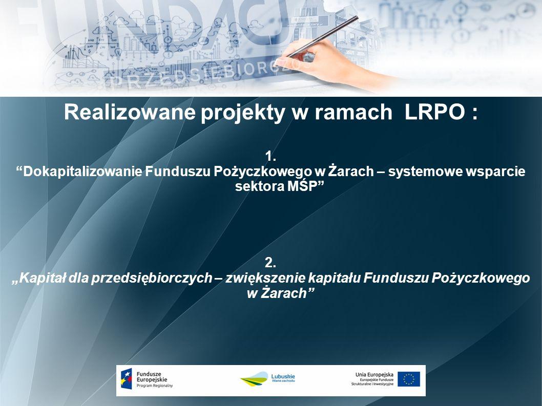 Realizowane projekty w ramach LRPO : 1.