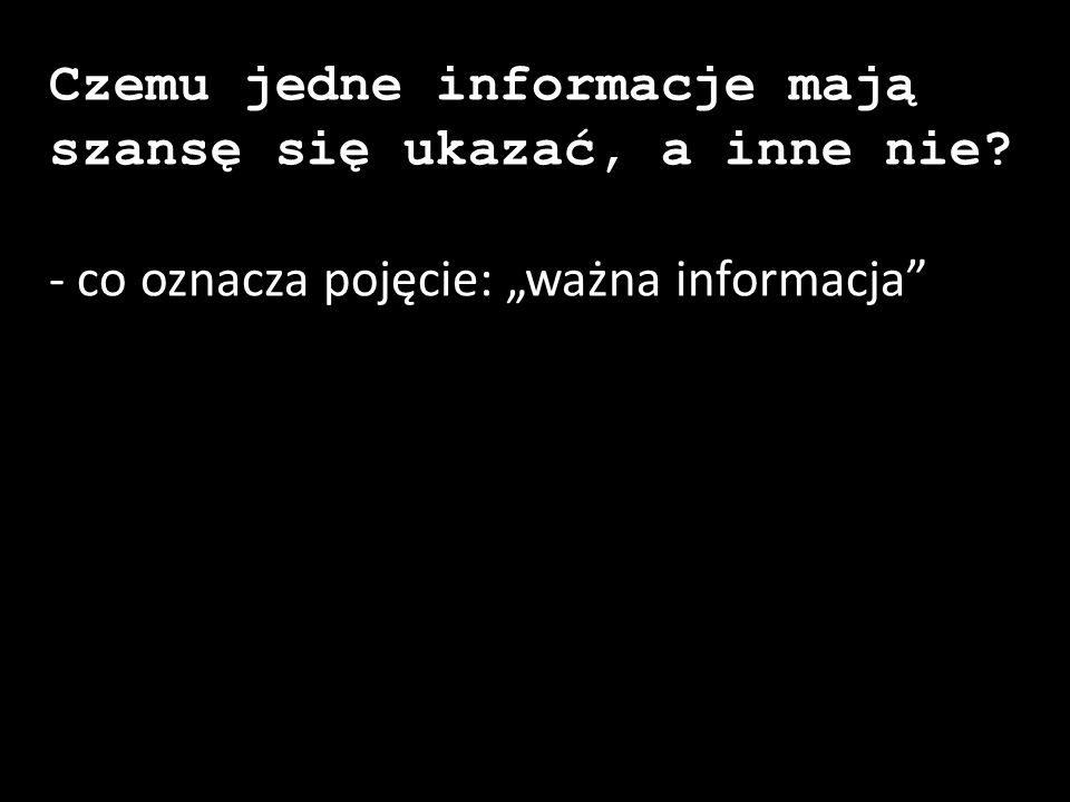 """- co oznacza pojęcie: """"ważna informacja"""""""