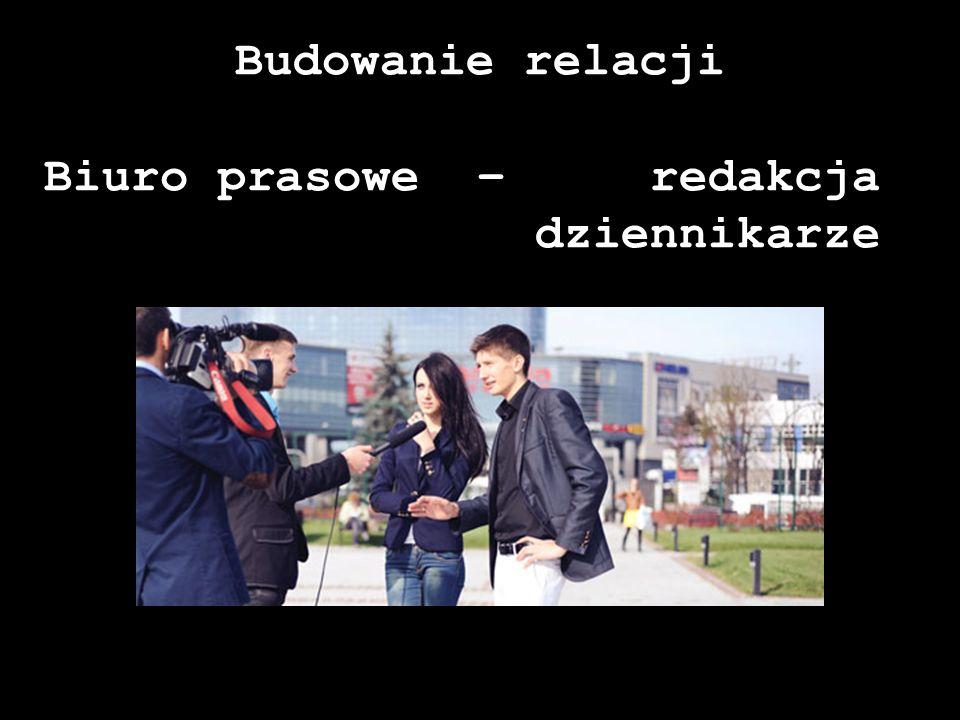Budowanie relacji Biuro prasowe – redakcja dziennikarze