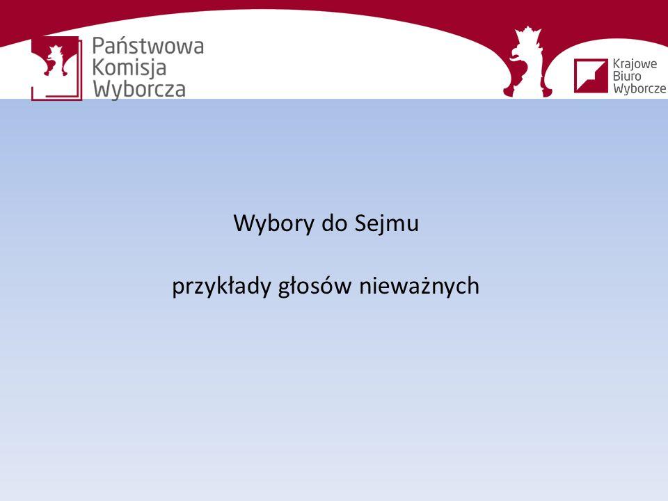 Wybory do Sejmu przykłady głosów nieważnych
