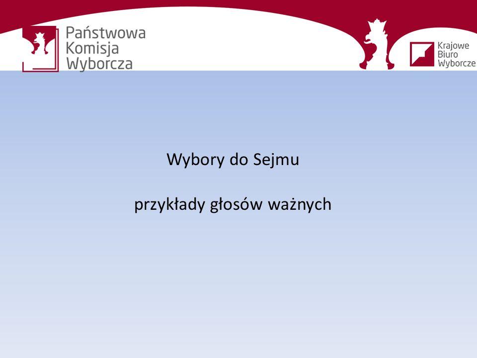 Wybory do Sejmu przykłady głosów ważnych