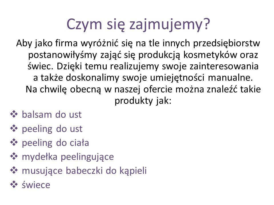 Przykłady naszych produktów Balsam do ust Świeca Mydełka