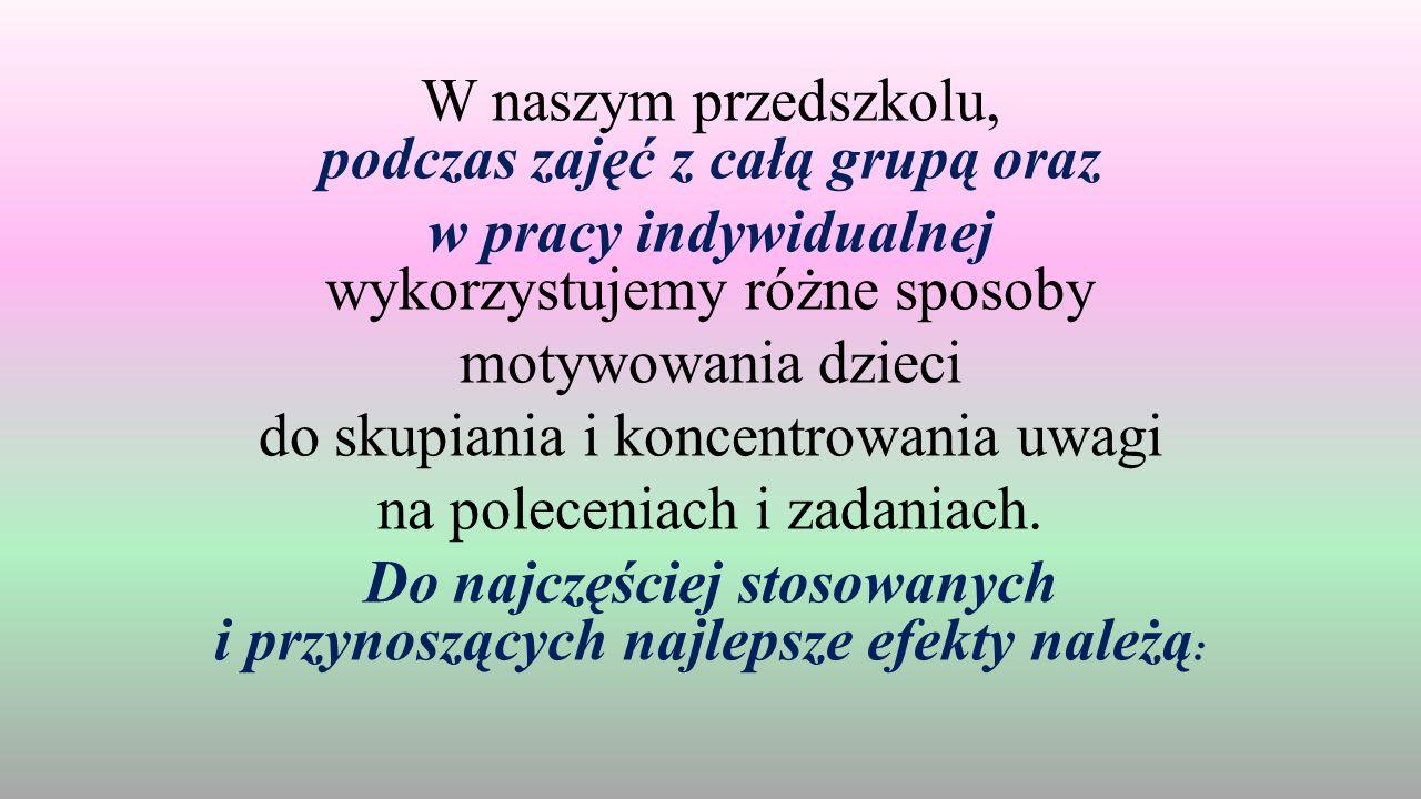 """Krasnal Dudek i Sowa Mądra Głowa - maskotki grupowe, które """"obserwują dzieci podczas zajęć"""