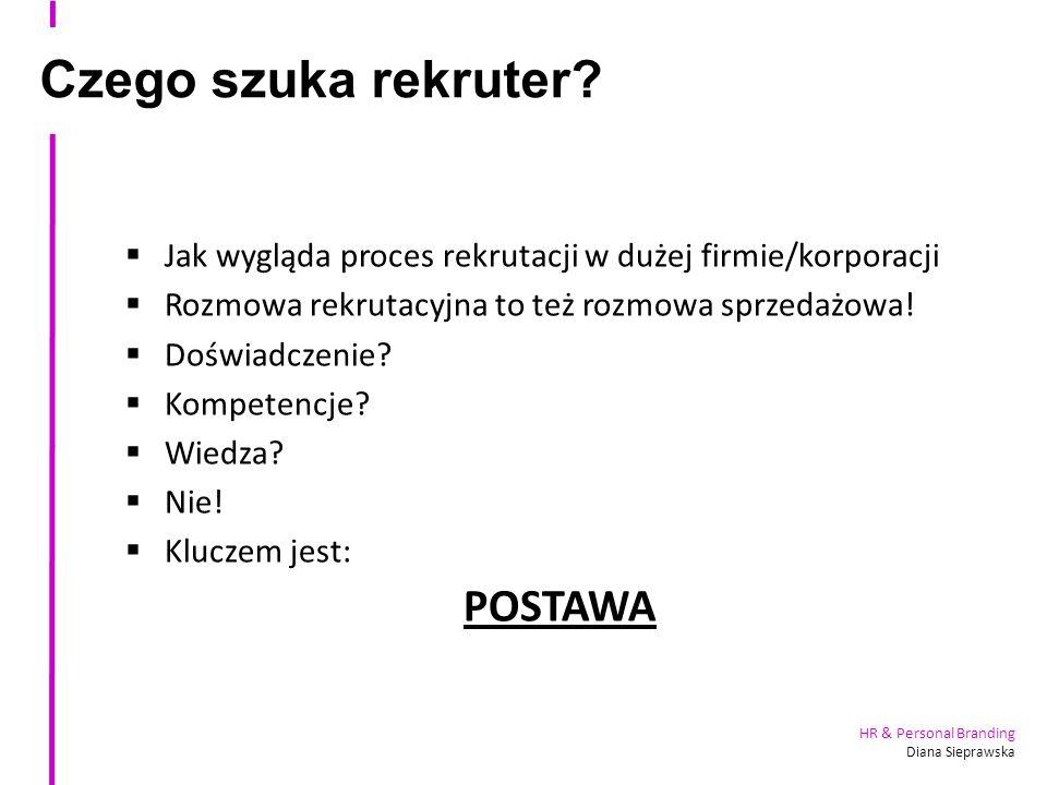 HR & Personal Branding Diana Sieprawska Czego szuka rekruter.