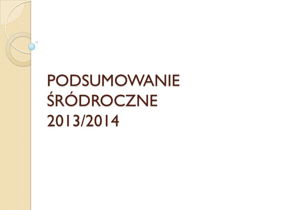 PODSUMOWANIE ŚRÓDROCZNE 2013/2014