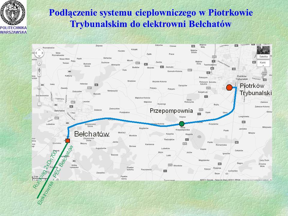 Podłączenie systemu ciepłowniczego w Piotrkowie Trybunalskim do elektrowni Bełchatów