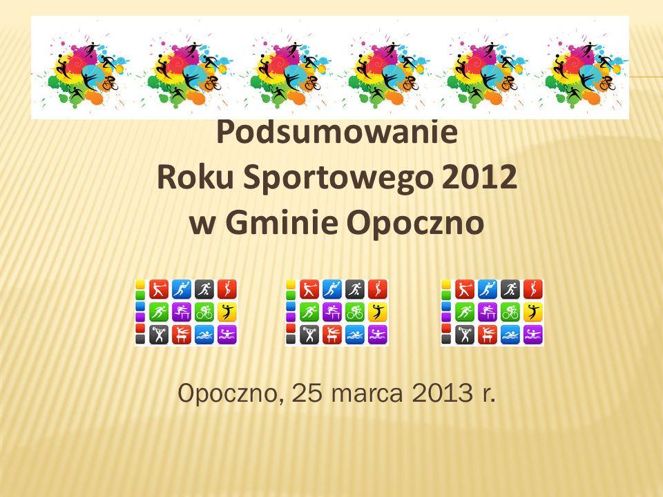 Podsumowanie Roku Sportowego 2012 w Gminie Opoczno Opoczno, 25 marca 2013 r.