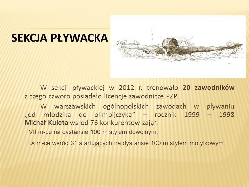 SEKCJA PŁYWACKA W sekcji pływackiej w 2012 r.