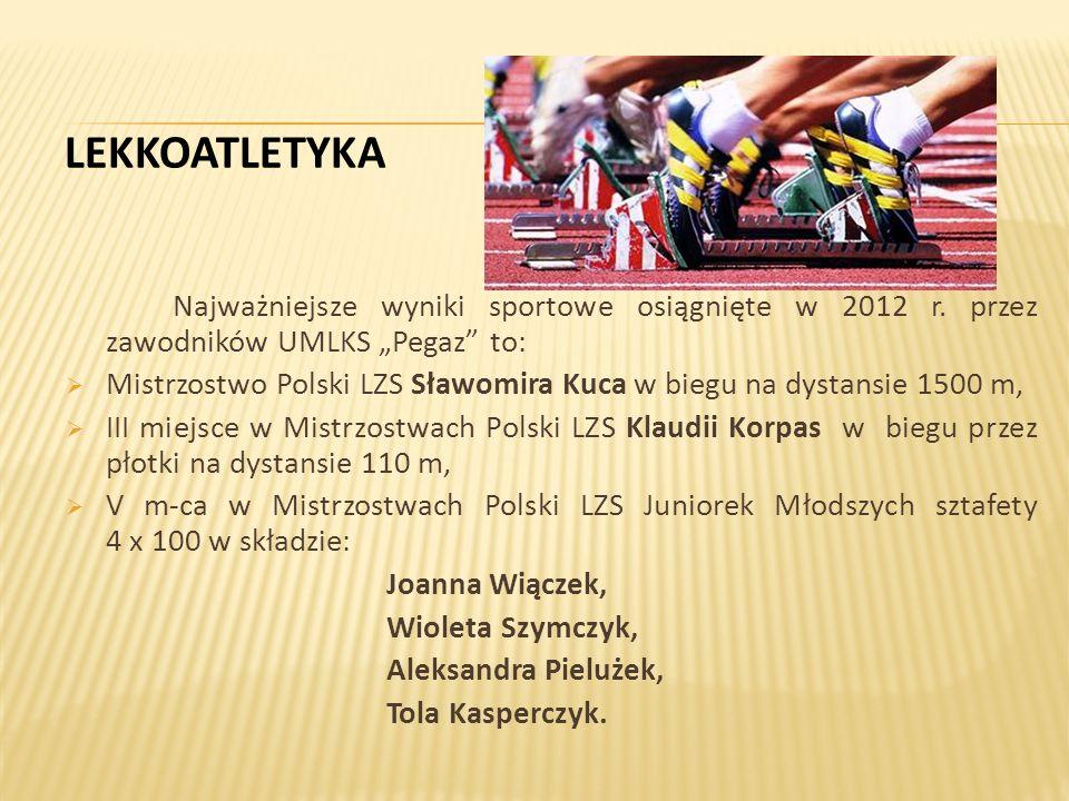 Najważniejsze wyniki sportowe osiągnięte w 2012 r.