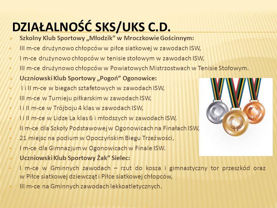 DZIAŁALNOŚĆ SKS/UKS C.D.