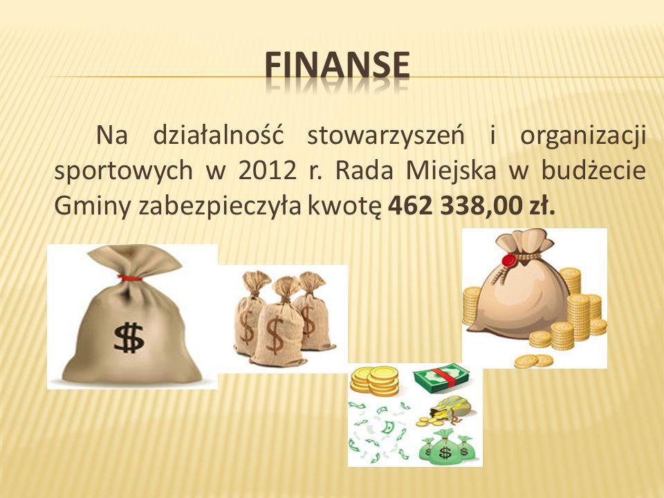 Na działalność stowarzyszeń i organizacji sportowych w 2012 r.