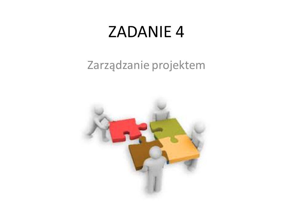 ZADANIE 4 Zarządzanie projektem