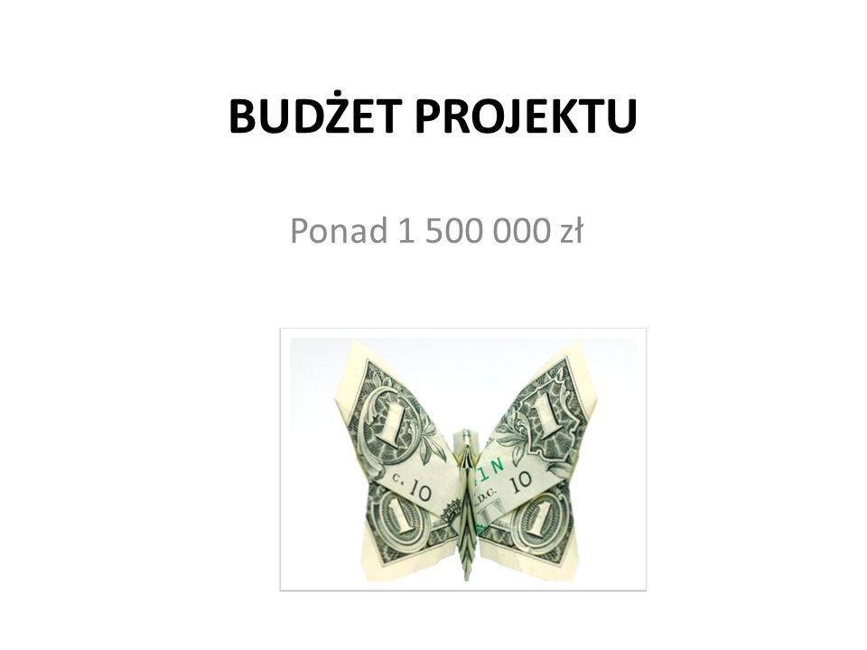 BUDŻET PROJEKTU Ponad 1 500 000 zł