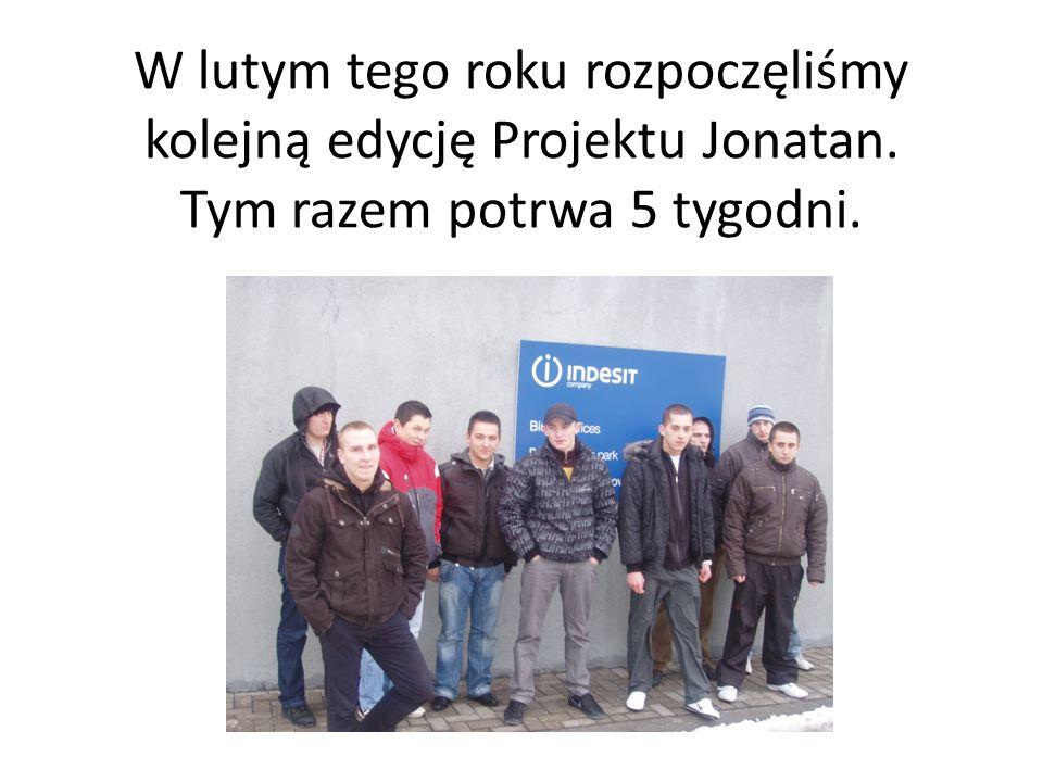 W lutym tego roku rozpoczęliśmy kolejną edycję Projektu Jonatan. Tym razem potrwa 5 tygodni.