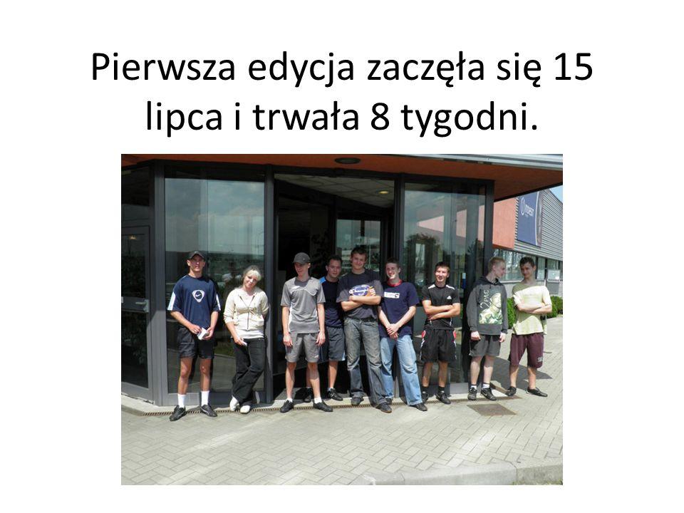 Wzięło w niej udział 9 osób w wieku od 18 do 21 lat( 8 chłopaków i 1 dziewczyna).