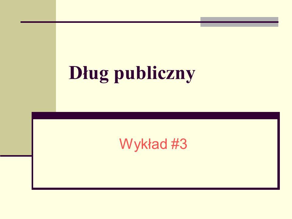 Struktura: Podstawowe definicje, Kształtowanie się długu publicznego w Polsce, Efekty zaciągania długu zewnętrznego w bilansie oszczędności i inwestycji, Dynamiczne cechy długu zewnętrznego, Ograniczenie budżetowe państwa