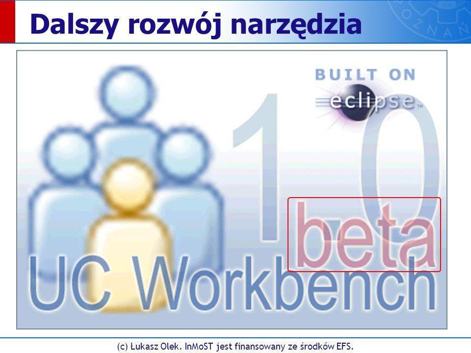 (c) Łukasz Olek. InMoST jest finansowany ze środków EFS. Dalszy rozwój narzędzia