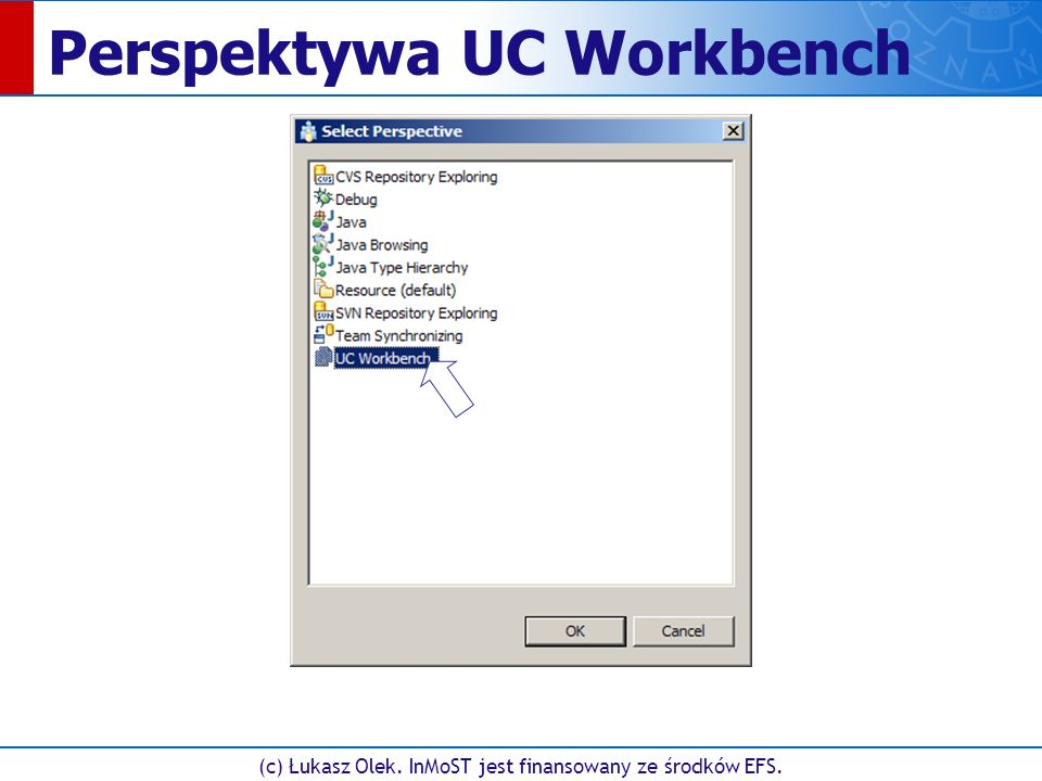 Perspektywa UC Workbench