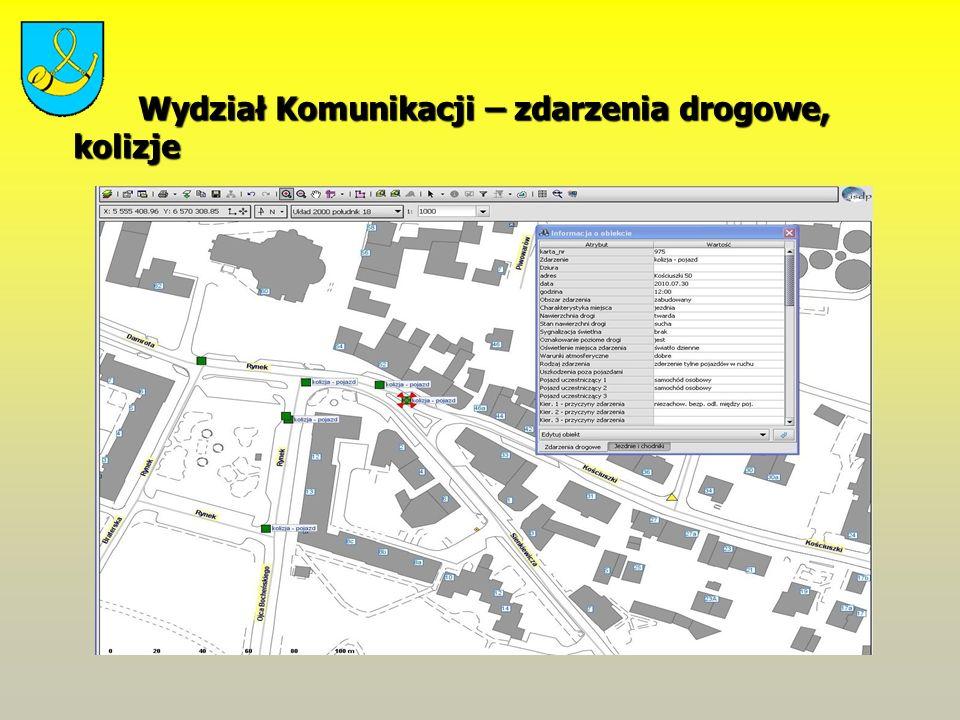 Wydział Komunikacji – zdarzenia drogowe, kolizje Wydział Komunikacji – zdarzenia drogowe, kolizje