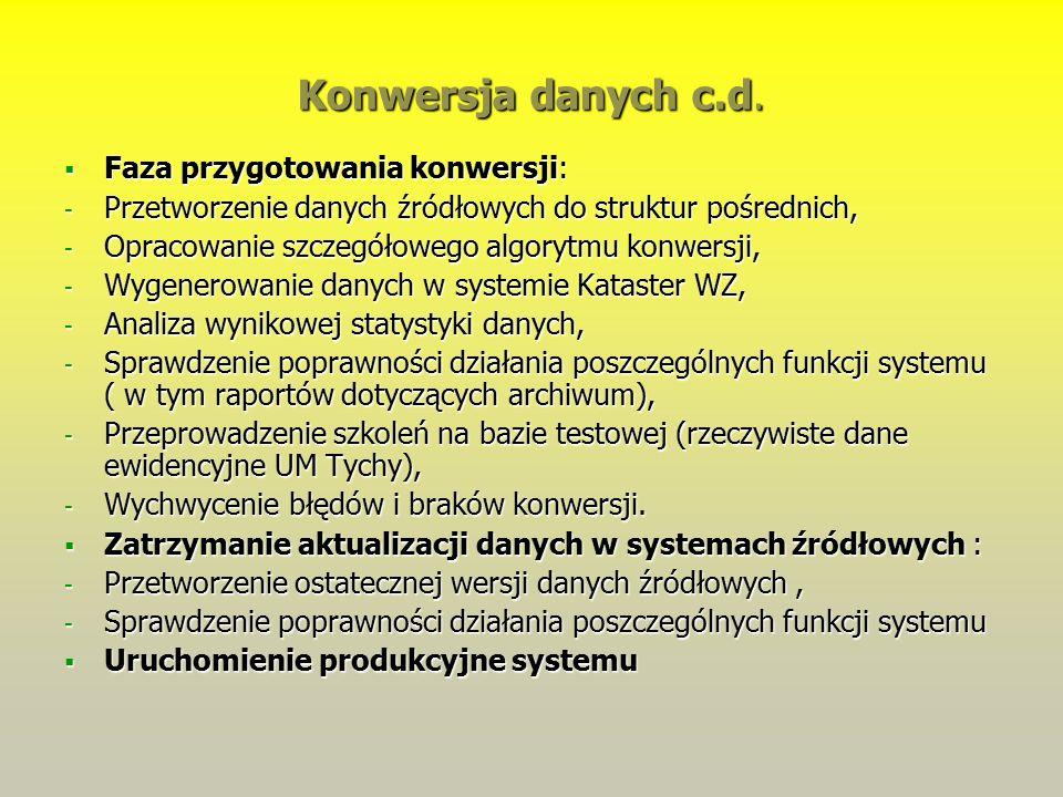 Konwersja danych c.d.