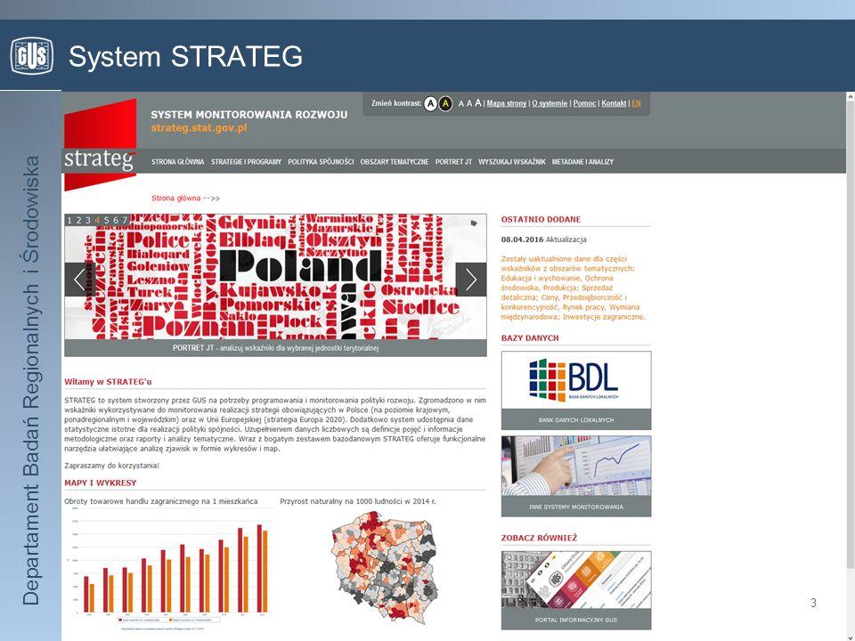 Departament Badań Regionalnych i Środowiska System STRATEG 3