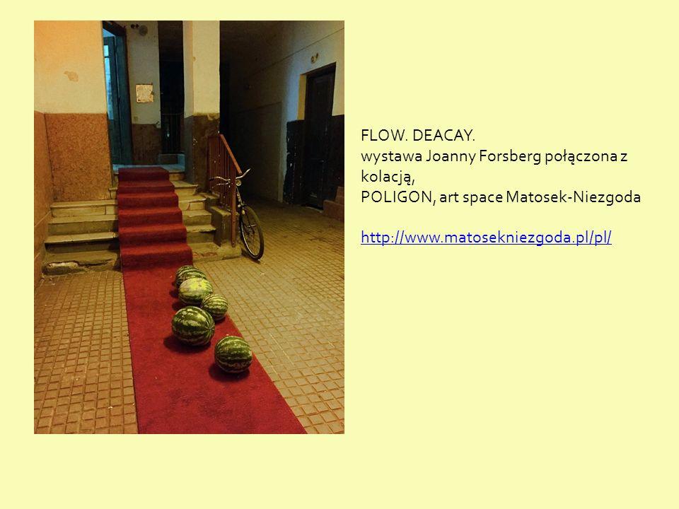 FLOW. DEACAY. wystawa Joanny Forsberg połączona z kolacją, POLIGON, art space Matosek-Niezgoda http://www.matosekniezgoda.pl/pl/