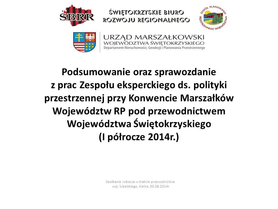 22-23 maj 2014 r.spotkanie Zespołu eksperckiego ds.