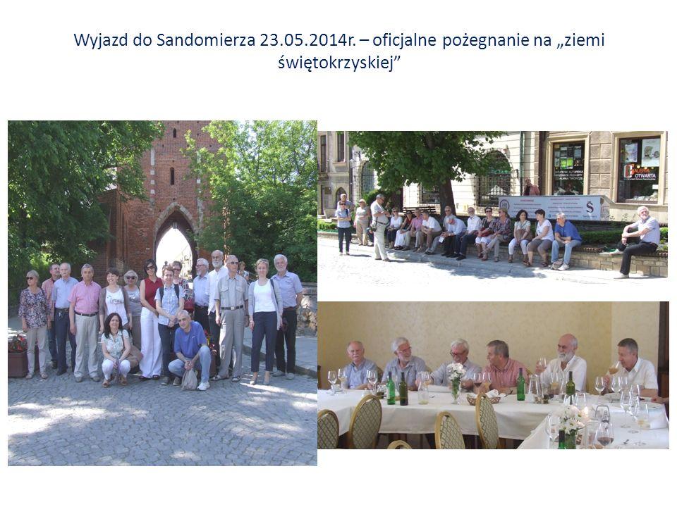 """Wyjazd do Sandomierza 23.05.2014r. – oficjalne pożegnanie na """"ziemi świętokrzyskiej"""