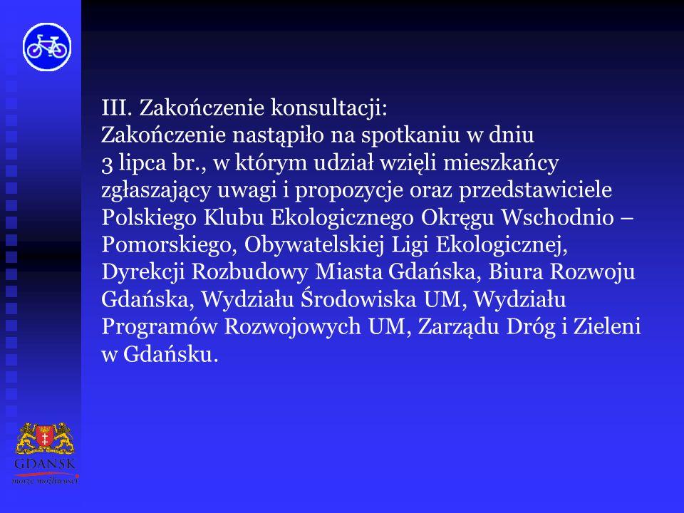 II. Uwagi zgłaszane w trakcie konsultacji: wprowadzenie dodatkowych połączeń na obszarze miasta Gdańska, budowa parkingów przy dworcach kolejowych, te