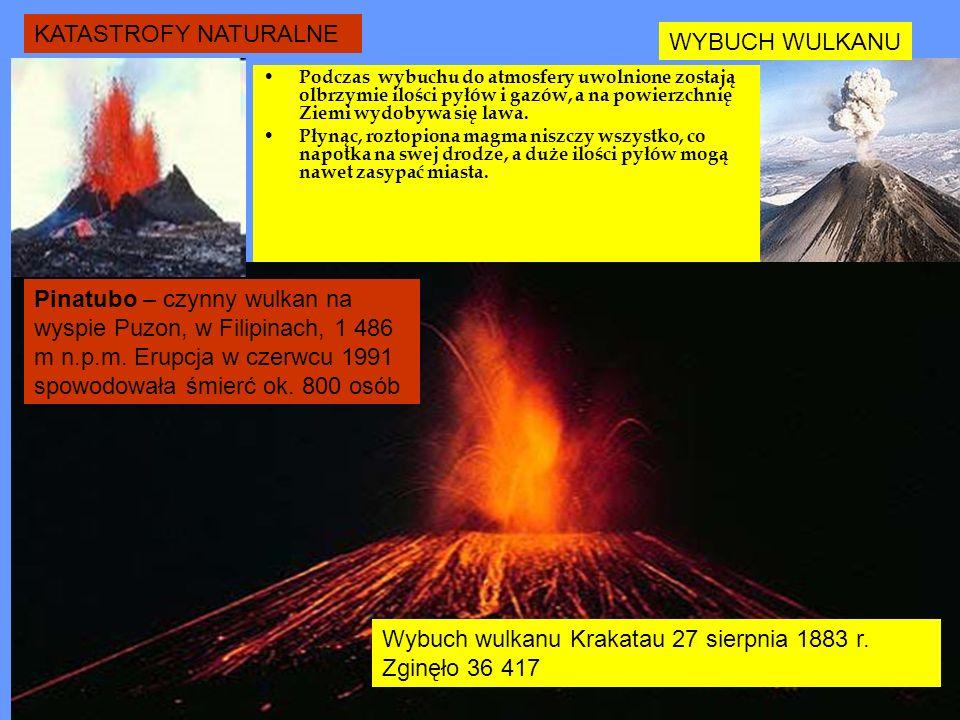 KATASTROFY NATURALNE TRZĘSIENIA ZIEMI 28 lipca 1976 roku Tangshan, Chiny - trzęsienie o sile 8 stopni w skali Richtera spowodowało kompletne zniszczenie.