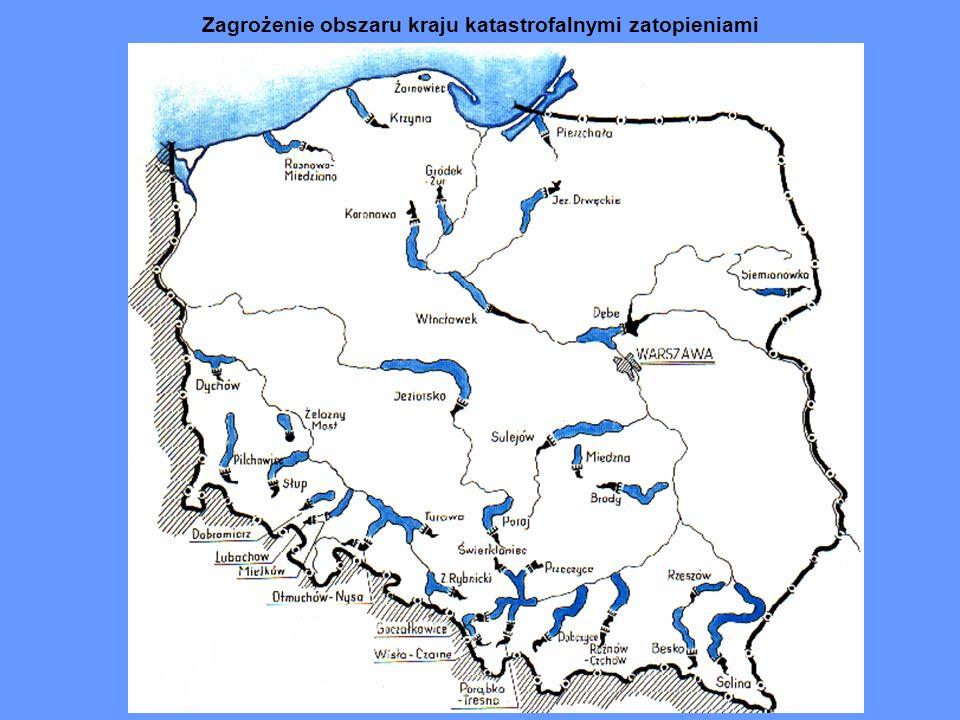 Zagrożenie obszaru kraju katastrofalnymi zatopieniami