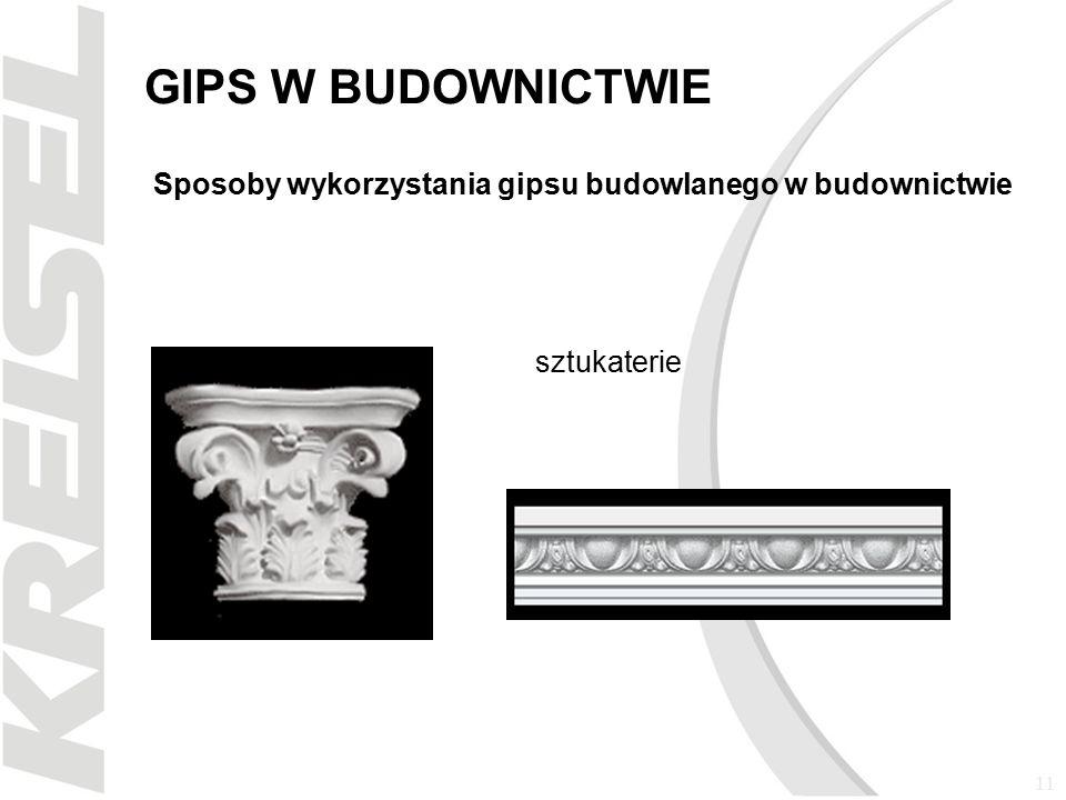 11 GIPS W BUDOWNICTWIE Sposoby wykorzystania gipsu budowlanego w budownictwie sztukaterie