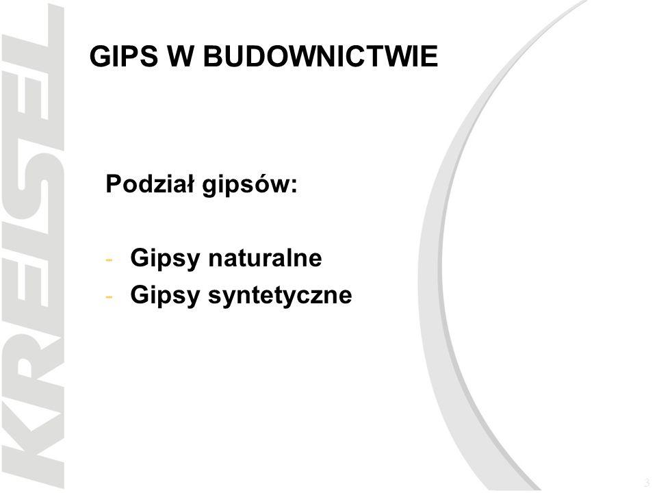 4 GIPS W BUDOWNICTWIE Gips naturalny - tworzy kryształy o pokroju tabliczkowym, słupkowym, igiełkowym.