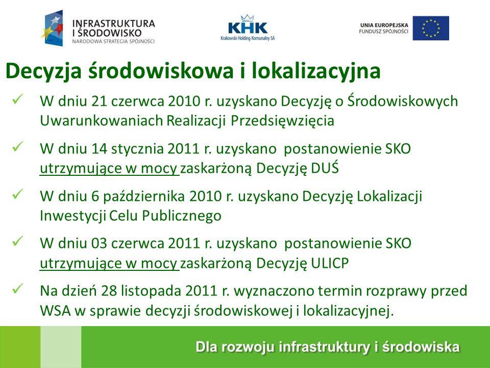KRAKOWSKA EKOSPALARNIA Decyzja środowiskowa i lokalizacyjna W dniu 21 czerwca 2010 r.