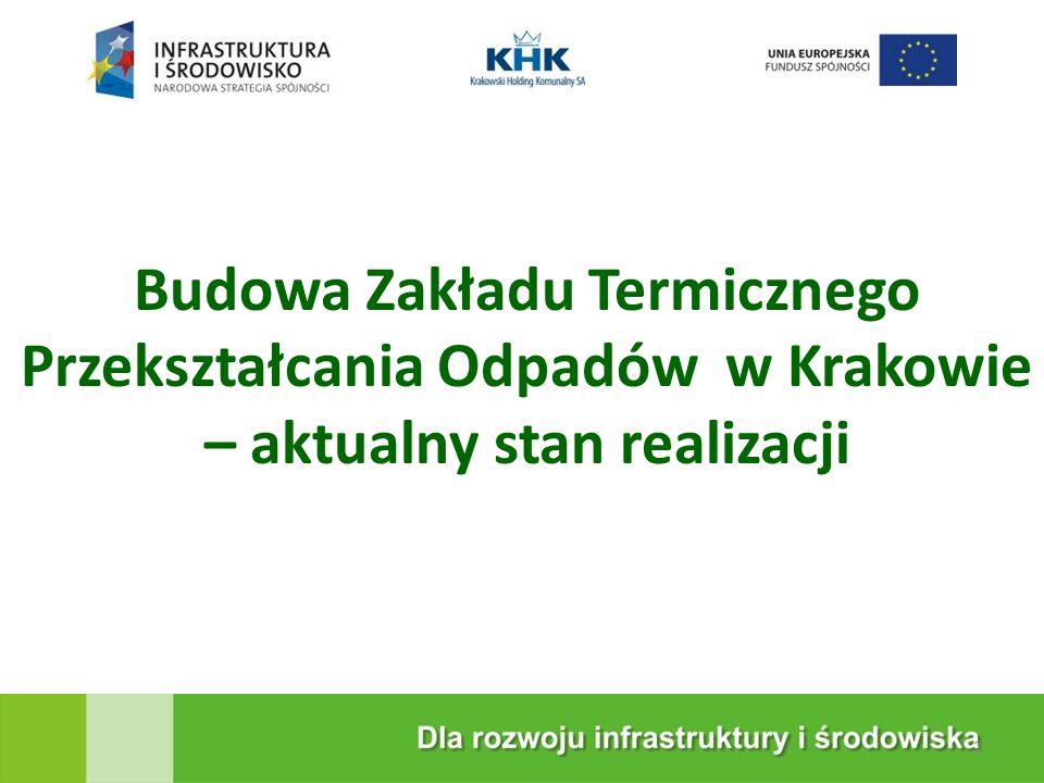 KRAKOWSKA EKOSPALARNIA Budowa Zakładu Termicznego Przekształcania Odpadów w Krakowie – aktualny stan realizacji 2