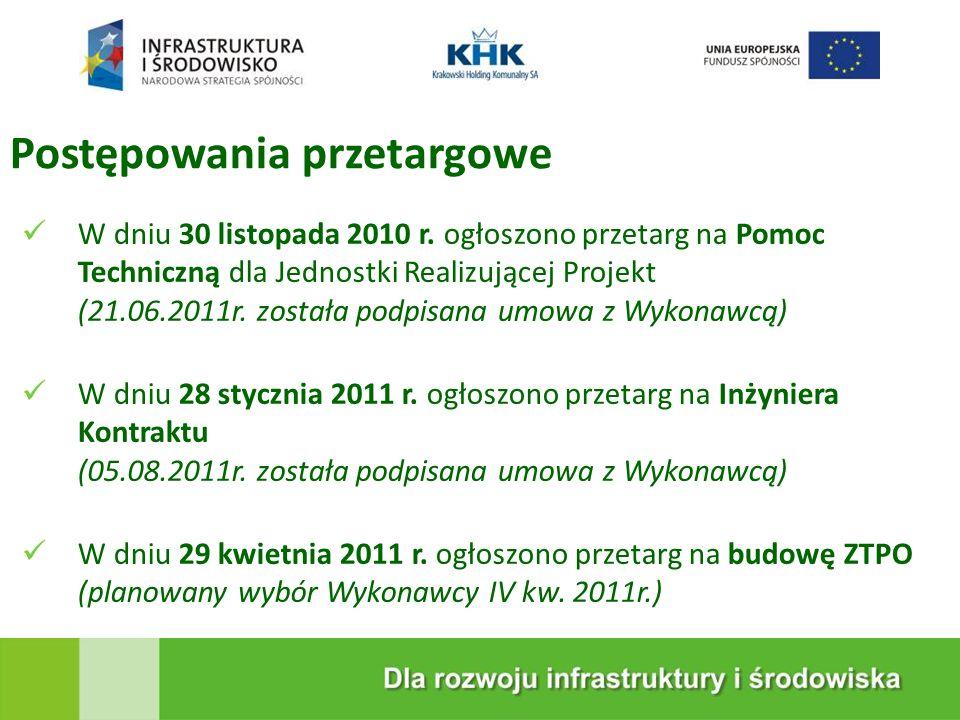 KRAKOWSKA EKOSPALARNIA Postępowania przetargowe W dniu 30 listopada 2010 r.