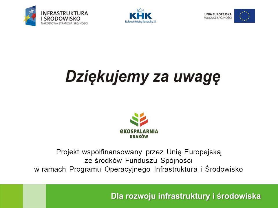 Projekt współfinansowany przez Unię Europejską ze środków Funduszu Spójności w ramach Programu Operacyjnego Infrastruktura i Środowisko