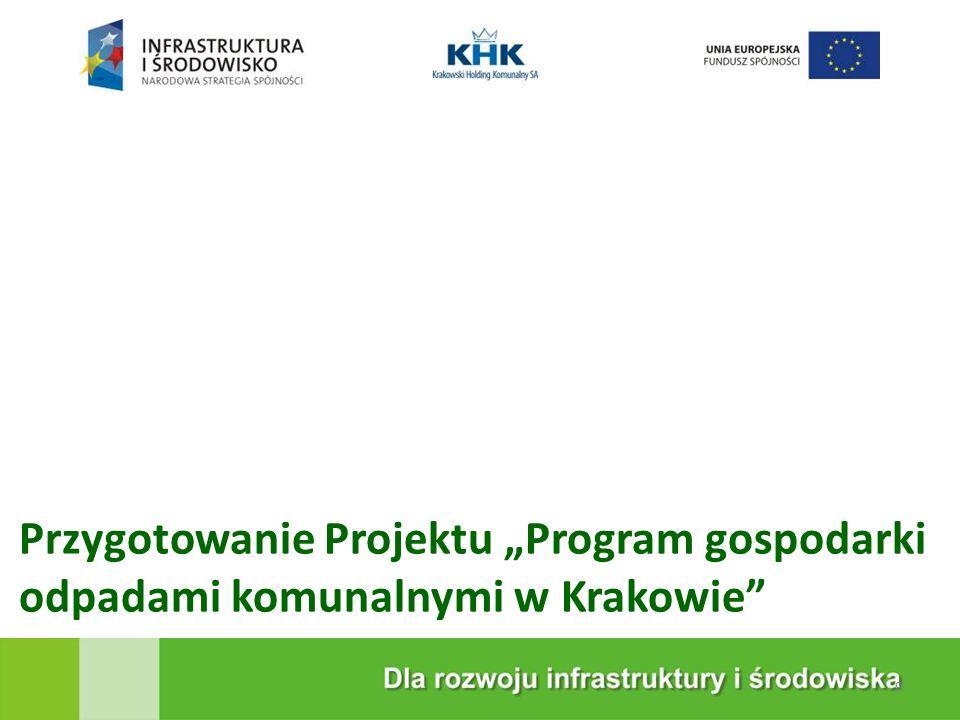 """KRAKOWSKA EKOSPALARNIA Przygotowanie Projektu """"Program gospodarki odpadami komunalnymi w Krakowie 9"""
