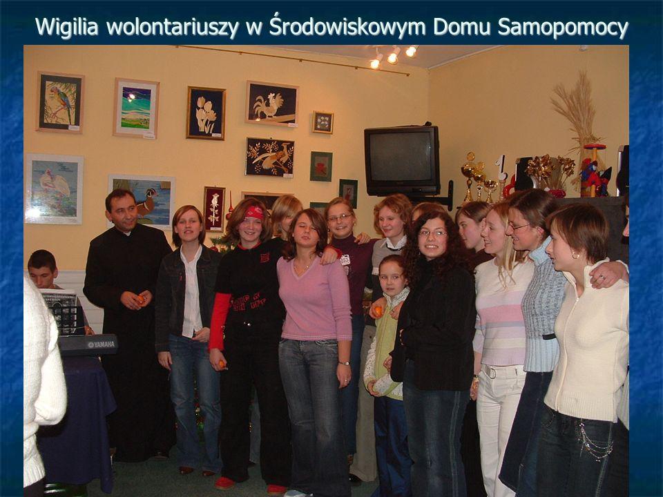 Wigilia wolontariuszy w Środowiskowym Domu Samopomocy
