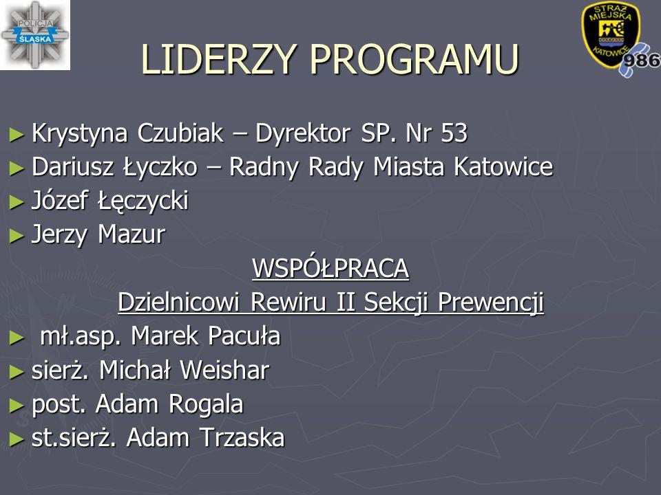 LIDERZY PROGRAMU ► Krystyna Czubiak – Dyrektor SP.