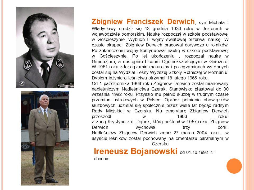 Zbigniew Franciszek Derwich, syn Michała i Władysławy urodził się 13 grudnia 1930 roku w Jeziorach w województwie pomorskim.