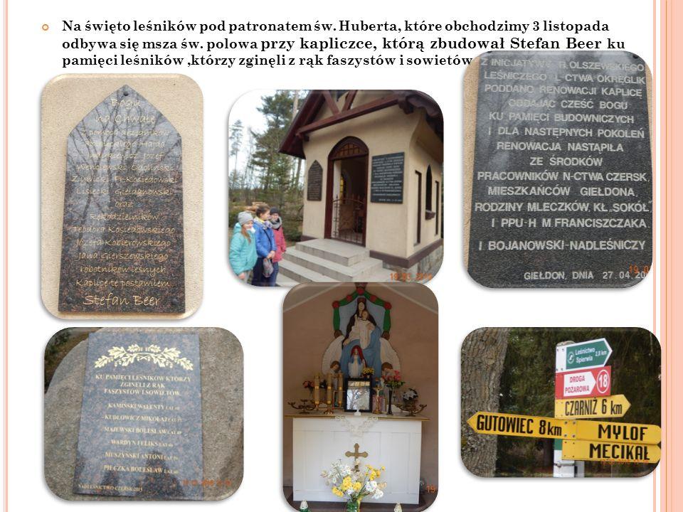 Na święto leśników pod patronatem św.Huberta, które obchodzimy 3 listopada odbywa się msza św.